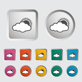 Overcast single icon. — Stock Vector