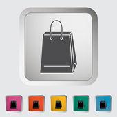 Bag store single icon. — Stock Vector