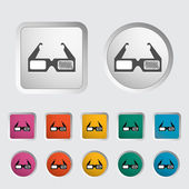 3D glasses single icon. — Stock Vector