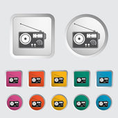 Radio één pictogram. — Stockvector