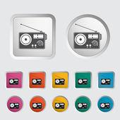 Radyo tek simge. — Stok Vektör