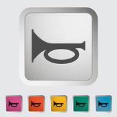 Horn-ikonen — Stockvektor