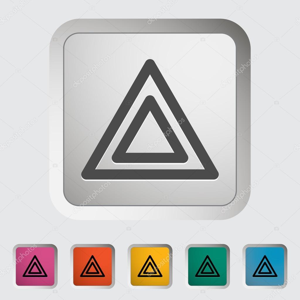 游人, tent., 单个, icon., 矢量, illustration.
