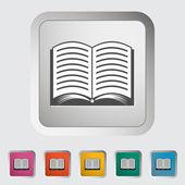 Book. Single icon. — Stock Vector