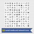 Social media and network icons - Stok Vektr