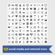 Social media and network icons - Image vectorielle