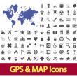 Stock Vector: Navigation map icons.