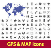 Navigation map icons. — Stock Vector
