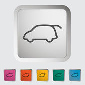 Car icon. — Vettoriale Stock