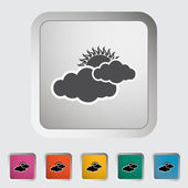 Cloudiness single icon. — Stock Vector