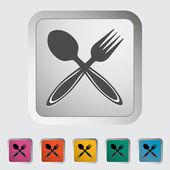 Cucchiaio, forchetta. — Vettoriale Stock