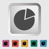 Graph single icon. — Stock Vector