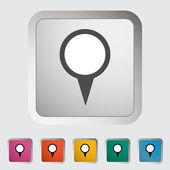 Map pin single icon. — Stock Vector