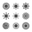 Sun icon — Vector de stock #26846907