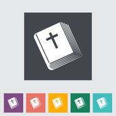 Bible flat single icon. — Stock Vector