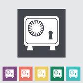 Bank veilig platte pictogram. — Stockvector