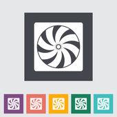 ícone plana do ventilador do radiador. — Vetorial Stock