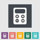 Calculator flat icon. — Stock Vector