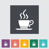 Cafe flat single icon. — Stock Vector