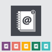 Contact book flat single icon. — Stock Vector