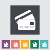 Credit card flat single icon. — Stock Vector