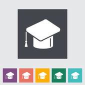Onderwijs platte pictogram. — Stockvector