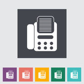 Fax flat icon. — Stock Vector