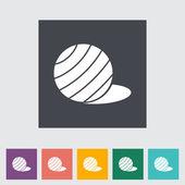 Fittball flat single icon. — Stock Vector