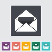 Envelope flat icon. — Stock Vector