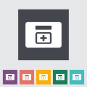 First aid kits flat icon. — Stock Vector