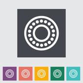 Icon flat bearing. — Stock Vector