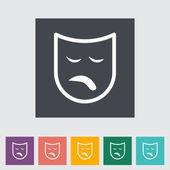 Theater maske — Stockvektor