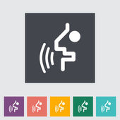 Voice recognition button. — Stock Vector