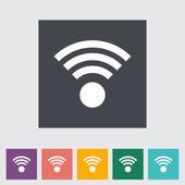 Wireless flat icon. — Stock Vector