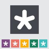 Star single icon. — Stock Vector