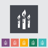 Candles single flat icon. — Stock Vector