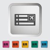 Air ticket — Cтоковый вектор