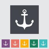 Anchor single flat icon. — Stock Vector