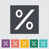 Icon percent sign 2 — Stock Vector