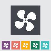 Fan single flat icon. — Stock Vector