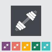 Dumbbell flat icon. — Stock Vector