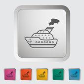 Fartyget ikonen. — Stockvektor
