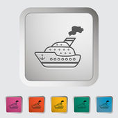 Schip pictogram. — Stockvector