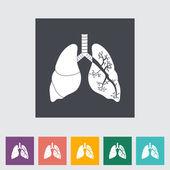 Płuca w czerni i bieli — Wektor stockowy