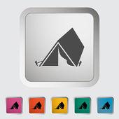 Tourist tent — Stock Vector