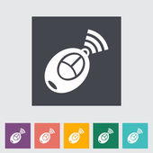 Remote control flat icon — Stockvector