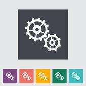 Gear flat icon. — Stock Vector
