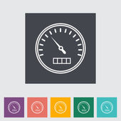 Speedometer flat icon. — Stock Vector