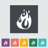 Fire flat icon — Stock Vector