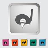 Jedną ikonę golf. — Wektor stockowy